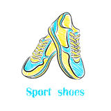 明亮的体育鞋子 免版税库存图片