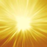 明亮的光束、发光的夏天背景与充满活力的黄色& o 向量例证