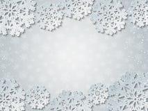 明亮的冬天白皮书被删去的传染媒介背景 免版税库存照片