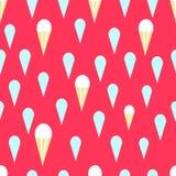 明亮的冰淇凌无缝的模式 向量例证