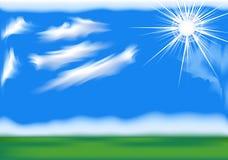 明亮的分类天空星期日 库存图片
