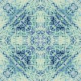 明亮的剪贴薄的纹理五颜六色的样式背景,顶视图 拼贴画镜象反射 无缝的万花筒 库存照片
