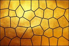 明亮的动态走路的金黄纹理马赛克样式,创造性的抽象背景 图库摄影