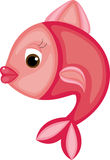明亮的动画片鱼 库存照片