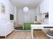 明亮的卧室艺术装饰样式 库存图片