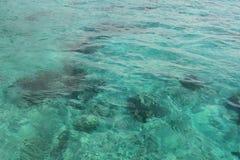 明亮的反射海水背景 免版税库存图片