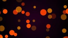 明亮的发光的圆微粒,计算机生成的抽象背景, 3D回报 库存例证