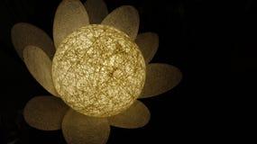 明亮的发光的白色圆的灯花 库存图片