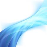 明亮的发光的蓝色力量波浪摘要swoosh 图库摄影