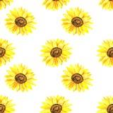 明亮的向日葵 E r 印刷品的,织品,纺织品,墙纸纹理 库存例证