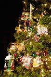 明亮的圣诞树 库存照片