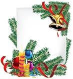 明亮的圣诞节海报 免版税图库摄影