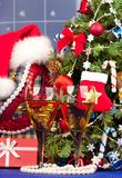 明亮的圣诞节辅助部件 库存图片