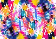 明亮的在孟菲斯样式的颜色抽象绘画 库存例证