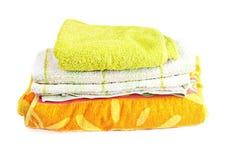 明亮的堆毛巾 免版税库存图片