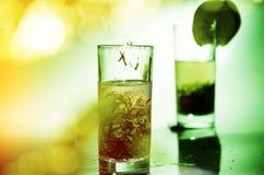明亮的夏天绿茶 免版税库存照片