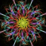 明亮的多彩多姿的分数维花 库存图片
