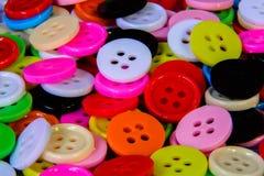 明亮的多彩多姿的按钮 图库摄影