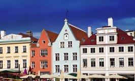 明亮的大厅安置多色方形城镇 库存照片
