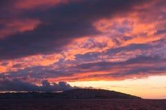 明亮的天空日落 更加气味强烈的摩洛哥 图库摄影