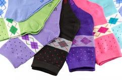 明亮的女性袜子 免版税库存图片
