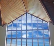 明亮的将来的办公室视窗 免版税库存图片