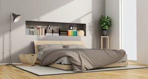 明亮的当代卧室 库存例证
