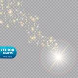 明亮的彗星与 流星 焕发光线影响 也corel凹道例证向量 库存照片
