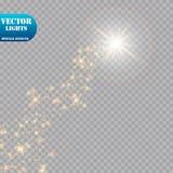明亮的彗星与 流星 焕发光线影响 也corel凹道例证向量 免版税图库摄影