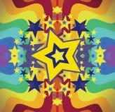明亮的彩虹星形 库存图片