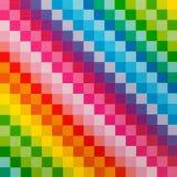 明亮的彩虹正方形样式 库存图片