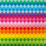 明亮的彩虹正方形样式 免版税图库摄影
