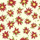 明亮的徒手画的无缝的花卉样式 免版税库存图片
