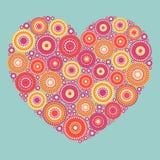 明亮的抽象心脏 库存照片