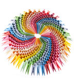 明亮的接近的模件origami彩虹 图库摄影