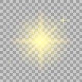 明亮的星形 透明亮光 库存例证
