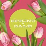 明亮的春天销售设计 10 eps 免版税库存照片