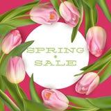 明亮的春天销售设计 10 eps 免版税库存图片