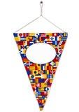 明亮的标志信号旗螺丝集合三角 库存图片