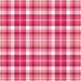 明亮的桃红色格子花呢披肩 免版税图库摄影