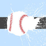 明亮的棒球背景 向量例证