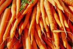 明亮的橙色束新鲜的红萝卜 库存图片