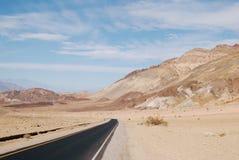 明亮的沙漠风景,死亡谷 库存照片