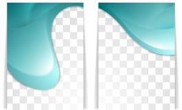 明亮的波浪飞行物设计 免版税库存图片