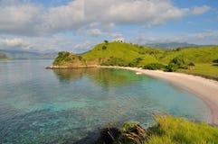 明亮的海岛早晨粉红色 免版税图库摄影