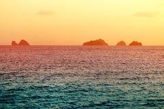 明亮的海日落的照片 图库摄影