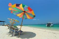 明亮的海滩 免版税库存图片