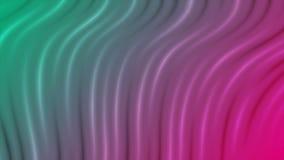 明亮的液体流动的波浪抽象录影动画 皇族释放例证