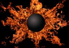明亮的火焰行星 免版税库存照片