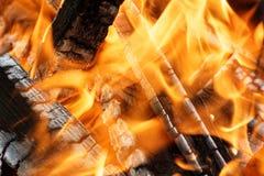 明亮的火背景 库存图片